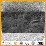 (100X100X50mm) 까만 현무암 바위 또는 자연적인 균열 표면 화강암 포석 자갈 돌