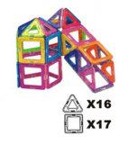 o edifício magnético de 26PCS Magformers ajusta brinquedos