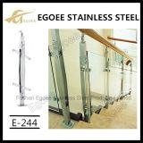 Het Traliewerk van het Glas van het Balkon van het roestvrij staal, het Traliewerk van het Glas van de Trede