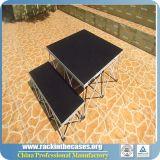 Étape en aluminium de contre-plaqué de hauteur ajustable chaude de vente pour le club/mariage