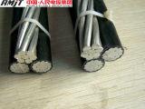 Cable liado aéreo del cable/ABC con el aislante del PE o de XLPE