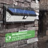 """légers solaires de détecteur de mouvement 54LED imperméabilisent la lumière actionnée solaire réglable de garantie de 3 """"copies claire"""" pour le patio de jardin"""