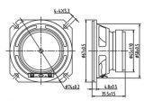 4ohm 2W 66m m altavoz de 2.5 pulgadas con alta confiabilidad del colmo de presión sana del imán externo