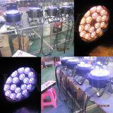 屋外DMXの照明18X18W 6in1 RGBWA紫外線LED平らな同価