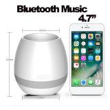 2017 새로운 Bluetooth 지능적인 접촉 음악 화분 7 색깔 LED 스피커 재배자