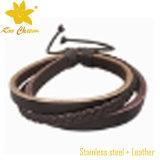 Stlb-108 venden al por mayor las pulseras de cuero de Engravable para el cuero de los pares