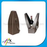 Коробка лидирующей бутылки вина PU кожаный одиночной упаковывая