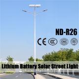 30W~120W LED Solarstraßenlaternearmiert mit Doppeltem 12V 30ah Lithium-Batterie