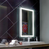 Espejo iluminado puesto a contraluz ligero del cuarto de baño del espejo de vanidad del LED