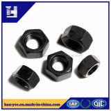 六角形ナットの黒の炭素鋼