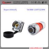 Kreiskabel-Energien-wasserdichter Verbinder Dh20 mit Pin 3
