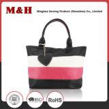 Three-Color сумка повелительниц хозяйственной сумки неподдельной кожи большой емкости нашивки