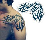 Etiqueta engomada temporal impermeable del tatuaje del diseño de moda del hombro