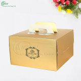 De glanzende Gouden Verpakkende Vakjes van het Document voor de Cake van de Verjaardag (kg-PX083)