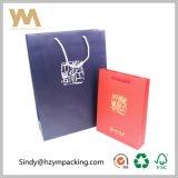 bolso blanco del embalaje del regalo de la bolsa de papel de la cartulina 250g