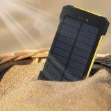 Energien-Bank mit starker heller Taschenlampe, bewegliche mini wasserdichte Sonnenenergie-Bank LED 10000mAh
