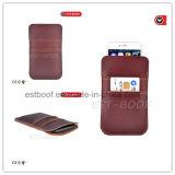 Caixa do telefone do couro da camada superior com as ranhuras para cartão para iPhone6/6plus/7/7plus