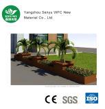 Rectángulo verde imputrescible de la flor del material WPC