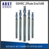Cortador do moinho de extremidade do aço de tungstênio da alta qualidade 50HRC 2flute