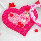 사탕 과자 심혼 모양 종이 마분지 꽃 상자