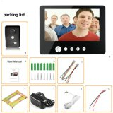 9 Zoll-videotür-Telefon-Türklingel-Gegensprechanlage mit 1 Kamera und 1 Monitor