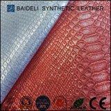 Metallisches PVC/PU gefälschtes Leder für Beutel/Fall/Koffer/Handtasche/sollte/Mappe/Fonds sich zu bauschen