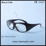 2700-3000nm Di Lb3/Er anteojos de la protección de /Eye de las gafas de seguridad de laser con el marco negro 33