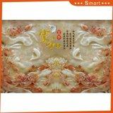 La peinture à l'huile gravée en relief d'étang de lotus pour la décoration à la maison