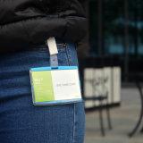 Het Lege Kenteken van de Houder van het Identiteitskaart van de douane met Sleutelkoord