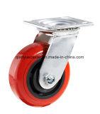 PU-Hochleistungsfußrolle, seitliche Bremse