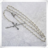 6 * 4mm Glass Imitation Pearls Beads Rosaries, Shell Centerpiece Rosary (IO-cr370)