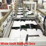 Instalação automatizada que dobra e que cola a máquina com memória do trabalho