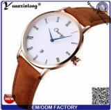 Or de cas de dos de l'acier inoxydable Yxl-506 plaqué avec les montres simples de créateur initial de mains