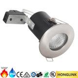 LED BS476火によって評価される引込められたDownlight IP65は浴室をつく防水する