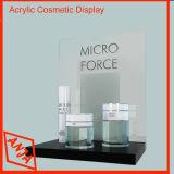 Soporte de visualización cosmético de madera de la cabina de visualización del maquillaje