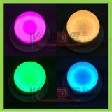 De kleurrijke Waterdichte LEIDENE van de Basis van de Lamp Lichte Wiek van de Decoratie RGBW