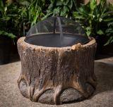 Pozzo del fuoco del ceppo di albero del Faux del giardino per uso esterno