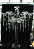 De Houder van de Kaars van het kristal met Affiche Vijf voor het Huis Decorarion van de Vakantie