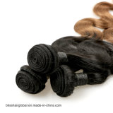 Menschenhaar Glücks-Haar brasilianisches Ombre Jungfrau-Haar-Farbe 1b-30