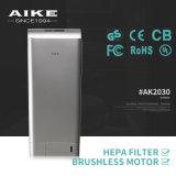 AK2030 ABS de Plastic Droger van de Hand van de Lucht van het Toilet van de Badkamers van het Toilet van de School van het Hotel Hygiënische Dubbele Straal