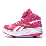 نمو [بو] جلد بكرة يبيطر أحذية مع بكرة قابل للانكماش لأنّ أطفال, فتى [رولّر سكت] حذاء رياضة رياضة من الصين