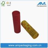 Caja de papel personalizado Tubo Perfumado Rosa Tea Packaging Cilindro Caso