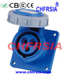 3p IP67 16A impermeabilizan el socket industrial (recto) para el panel montado