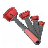 4 pedazos de cucharas dosificadoras/de cucharas dosificadoras Setspoon del pequeño silicón plegable