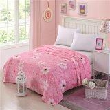 Entwurf Blume der Japan-Sakura netter weiche Plüsch-Nerz-Zudecke auf Bett für Mädchen-Raum