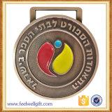 習慣2017の半球形に作られるエポキシが付いている最も新しい真鍮の青銅色のスポーツメダル