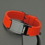 Braccialetto di gomma personalizzato di marchio con il germanio di funzione di salute