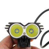 2PCS CREE U2 LED Black Bicycle Bike Light 2000 Lm T6 Head Light Lamp
