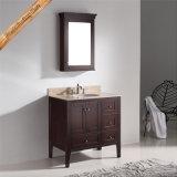 Qualitäts-Badezimmer-Eitelkeits-einzelner Wannen-Badezimmer-Schrank des festen Holz-Fed-1037