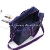 紫色の印刷された屋外スポーツ旅行Duffelの荷物ギヤ袋